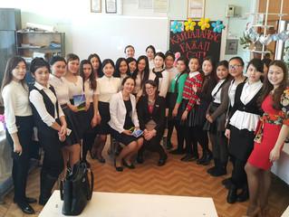 Встреча студентов с писателями и поэтами города Темиртау