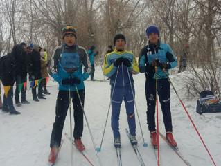 Первые места в первенстве города по лыжным гонкам среди студентов колледжей г. Темиртау
