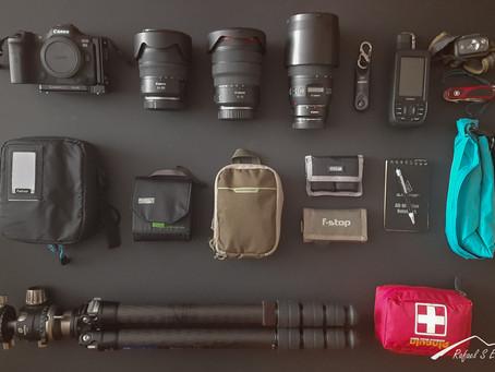 El equipo para la fotografía de paisaje