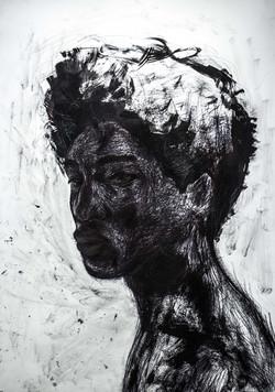 _ Black as color 2 '' - 100 x 70 CM