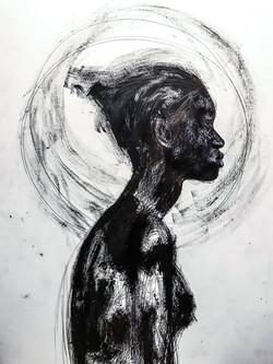 '' Black as color 5 _ - 100x70 CM