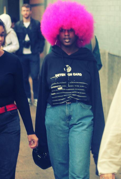NYFW S/S 2020 Purple Wig Girl