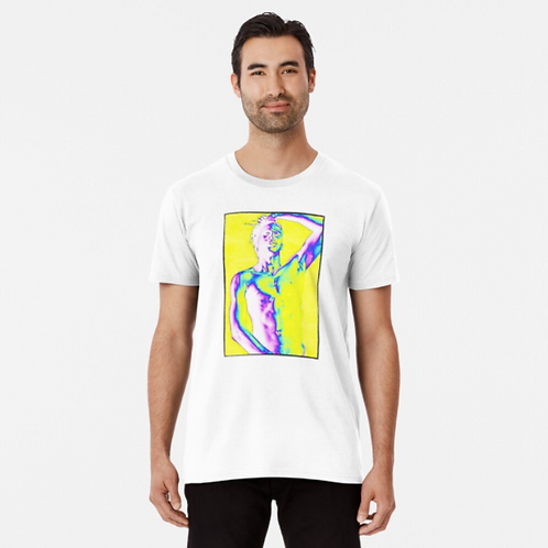 'Born To Exist' Art Graphic Premium T-Shirt