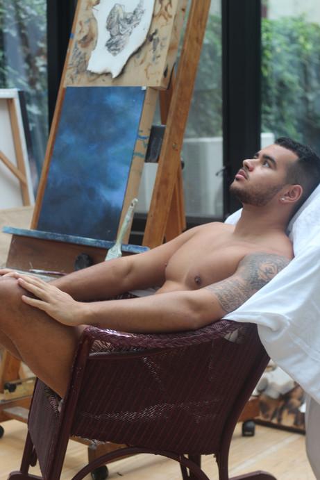Le peintre au studio VOYEUR