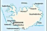 La Islandia de Indridason | mapa político | Un mundo de novela