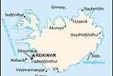 La Islandia de Indridason   mapa político   Un mundo de novela
