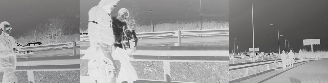 Li gang Fotografie | Walking on the  Highway | 140x62cm | Edition 1/5 | Print on Alu-Dibond | Euro 2000,-