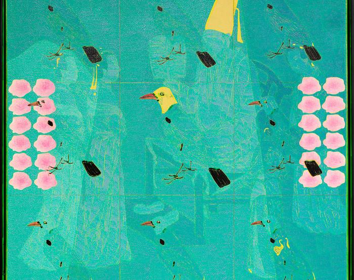 Wang Chongxue | Seethrough | Ölmalerei | 120x120cm | Euro 5100,-