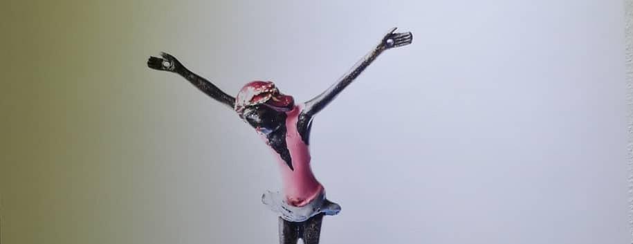 Skulptur, H. Draeger, Foto, F. Heinbach; Der Tänzer