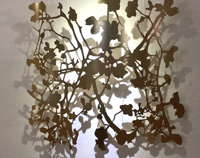 Magnolie-Messing | 105 x105 cm | Euro 55