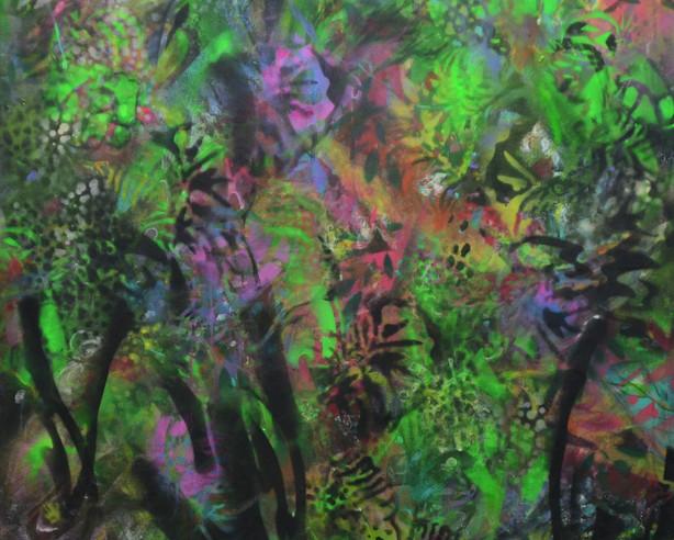 paradise garden 2021 Acryl Farbspray auf Leinwand.jpg