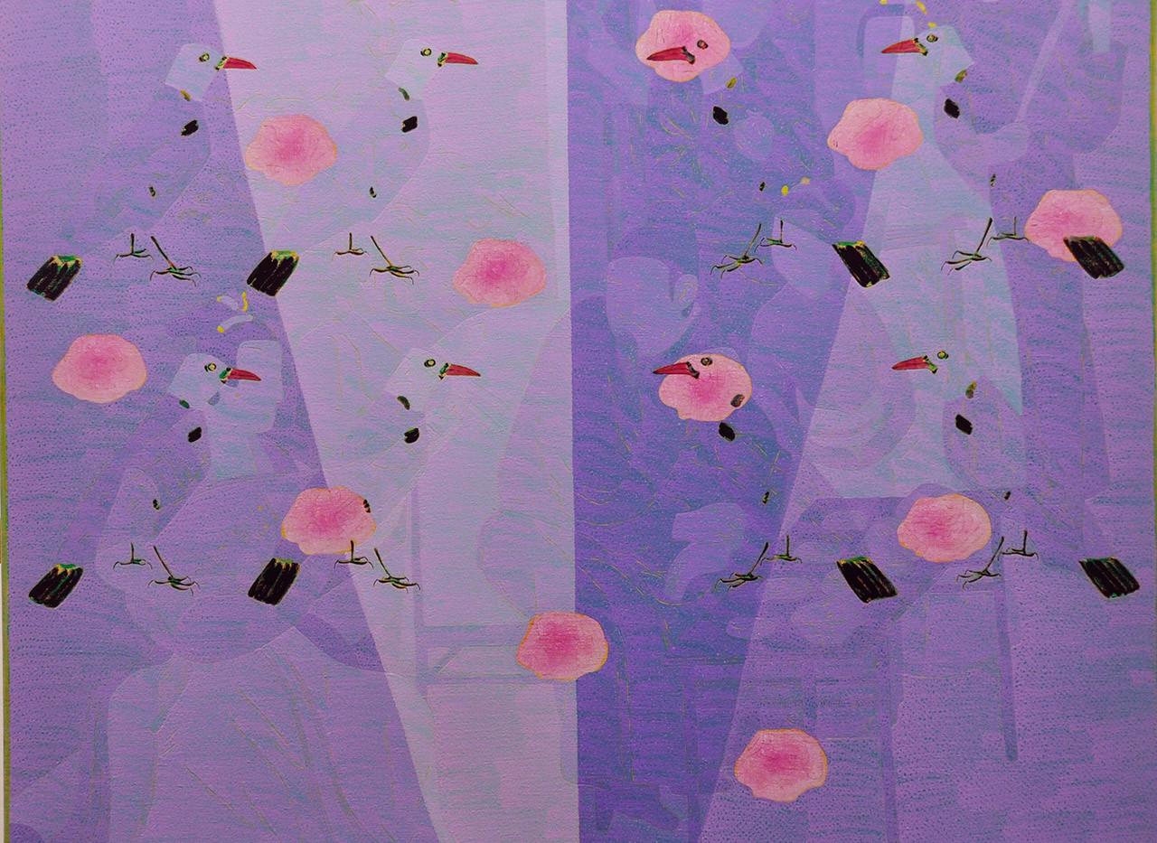 Wang Chongxue | Seethrough | Ölmalerei | 120x120cm | Euro 4300,-