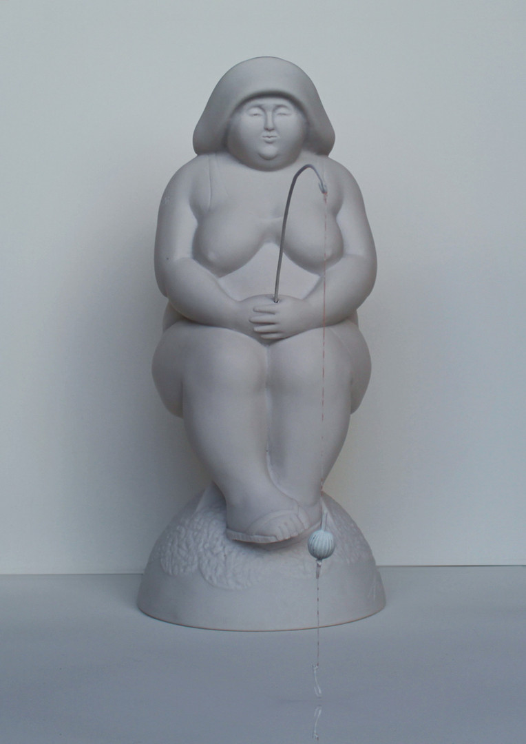 Fischerin-Sonja | Pollystone | 41x19x19 cm | 1/10 | Euro 1900,-