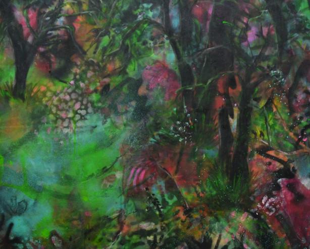 mystery forest 2021 Acryl Farbspry auf Leinwand 100x80.jpg