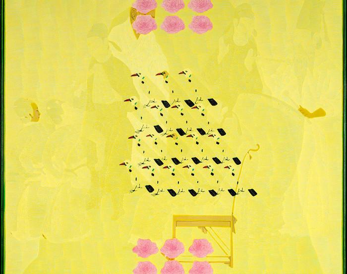 Wang Chongxue | Seethrough | Ölmalerei |  80x80 cm | Euro 3300,-