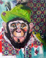 Mach dich nicht zum Affen 2017 Acryl auf