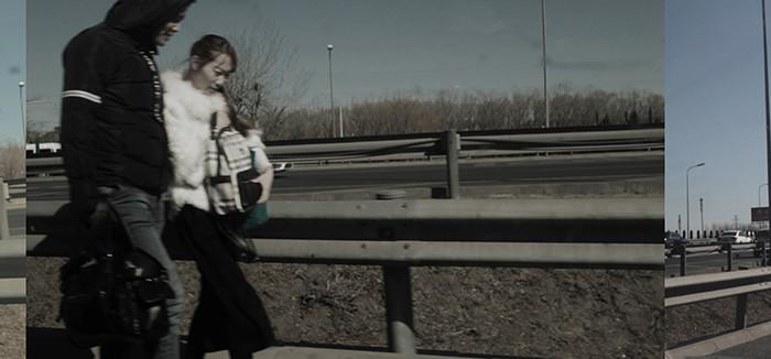 Li gang photography | Walking on the Highway | 140x64 cm | Print on Alu - Dibond | Edition 2/5 | Euro 2000, -