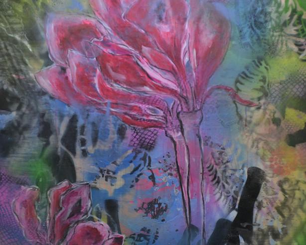 Flower in red 2021 acryl auf Leinwand 110x100.JPG