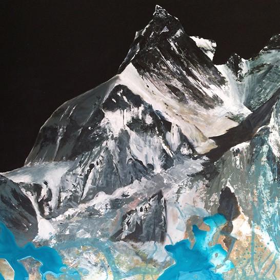 Kumbu Gletscher | 90 x 100cm | Euro 3500,-