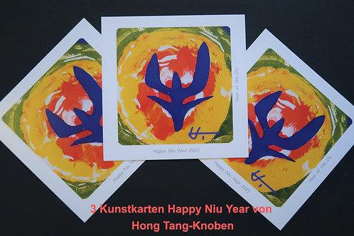 """""""Niu Year"""" - Kunstkarte zum Chinesischen Neu Jahr"""