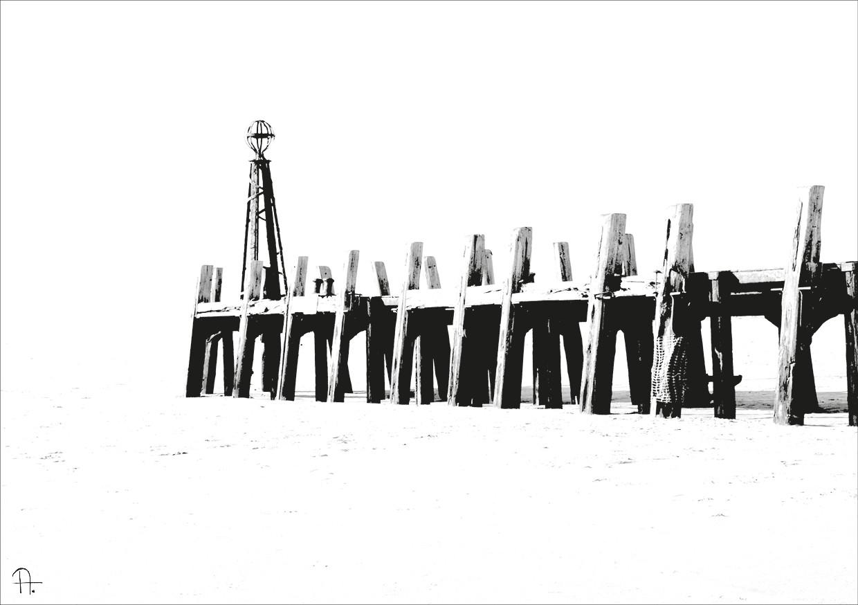BeachBarrier | 120x80cm |  Mix-media  auf Leinwand| Unikat