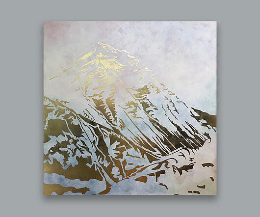 everest | 140x140cm | Schlagmetall Gold