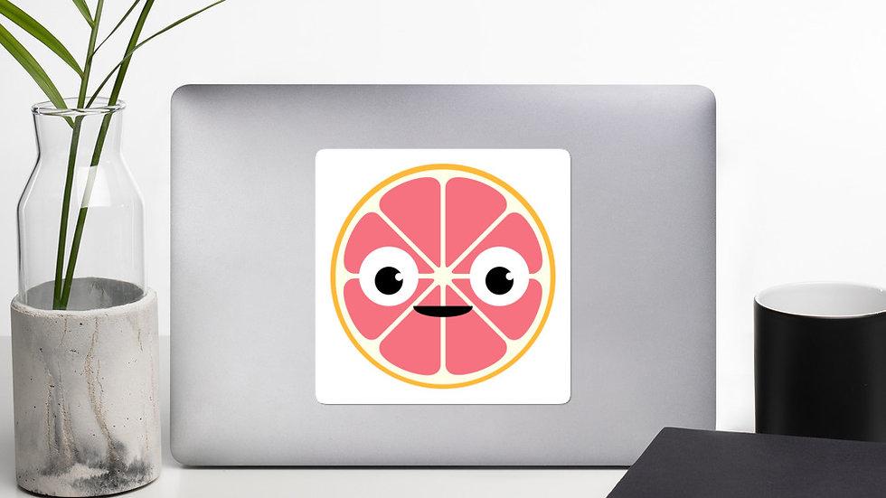 Grapefruit smiles sticker