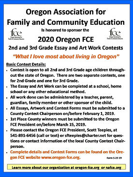 2020 Oregon Essay & Artwork Contest - FB