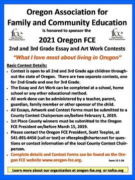 2021 Oregon Essay & Artwork Contest - Si