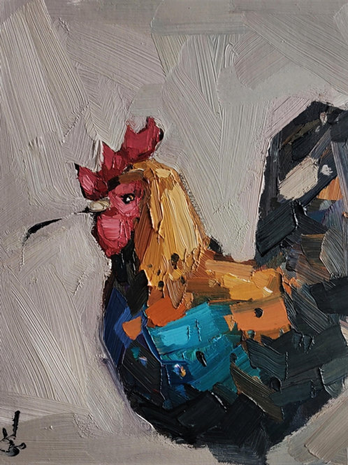 Original Painting 'Happy Rooster'