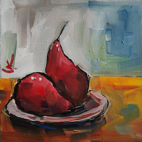 Original Painting 'Poached Pears'