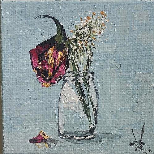 Original Painting 'Decaying Rose'