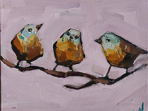 Original Painting 'Yellow Canaries'