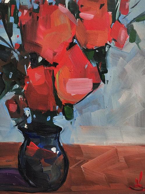 Original Painting 'Big Red Roses'