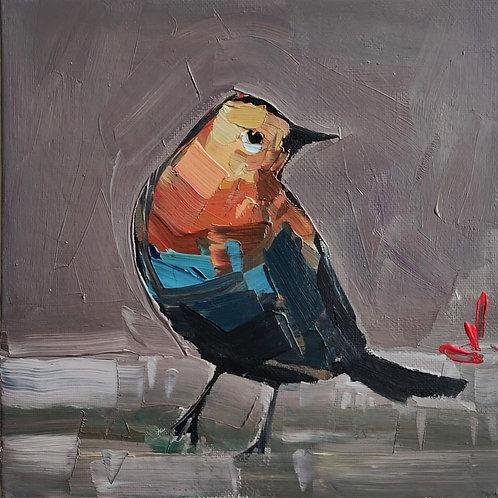 Original Painting 'Orange Parrot'