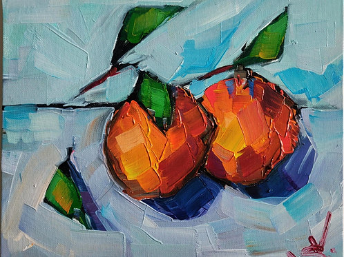 Original Painting 'Two Oranges'
