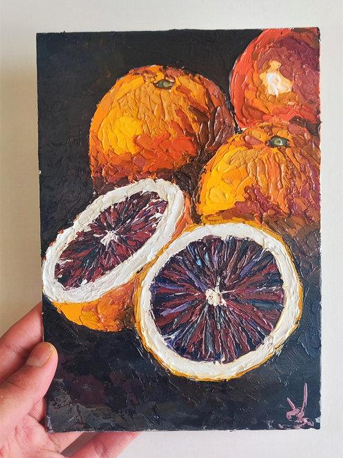 Original Painting 'Portrait Of Oranges'