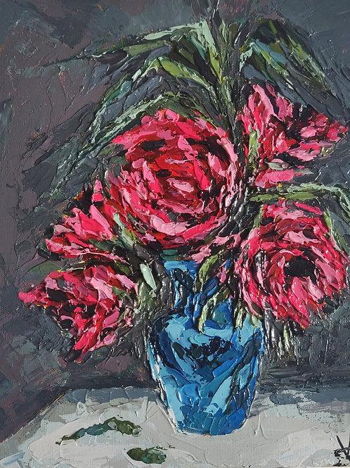Original Painting 'Peony Vase'