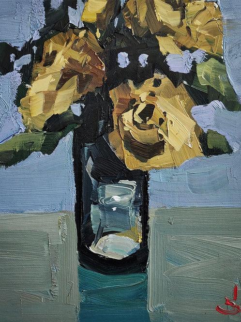 Original Painting 'Yellow Rose'
