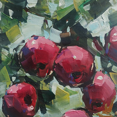Original Painting 'Red Apples'