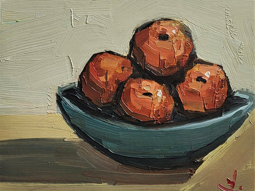 Original Painting 'Bowl Of Tangerines'