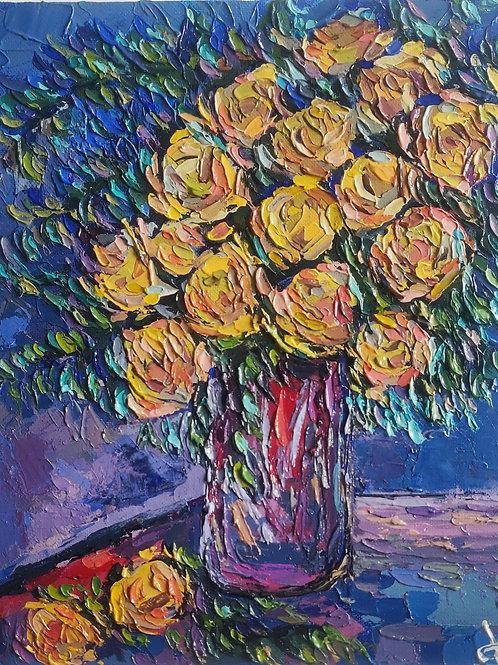 Original Painting 'Night Vase'