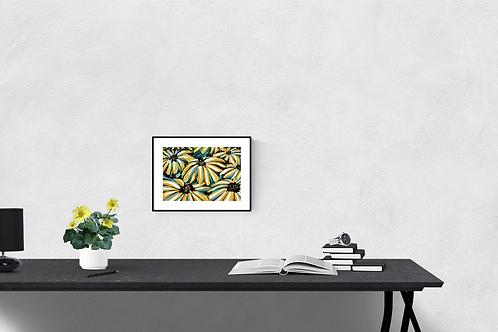 A4 Size Original Art Print 'Lemon Tree'