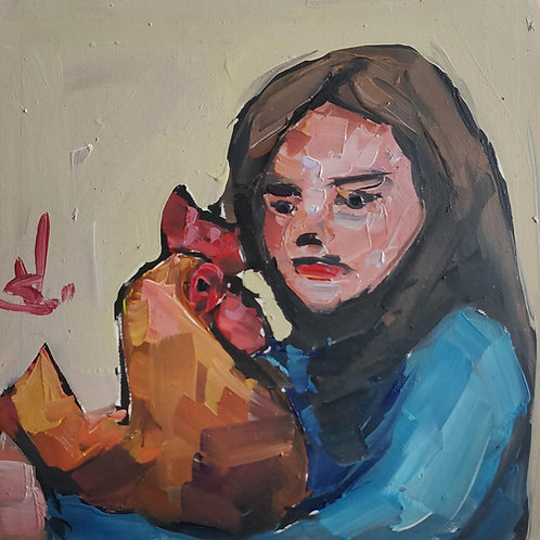 Original Painting 'Pet Rooster'