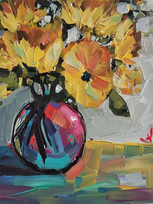 Original Painting 'Small Sunflowers'