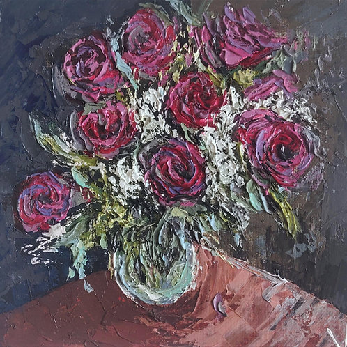 Original Painting 'Velvet Bouquet'
