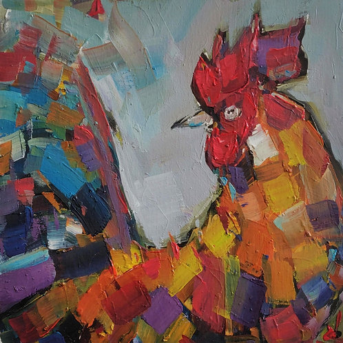 Original Painting 'The Rooster'