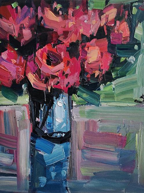 Original Painting 'Pink Rose Bouquet'