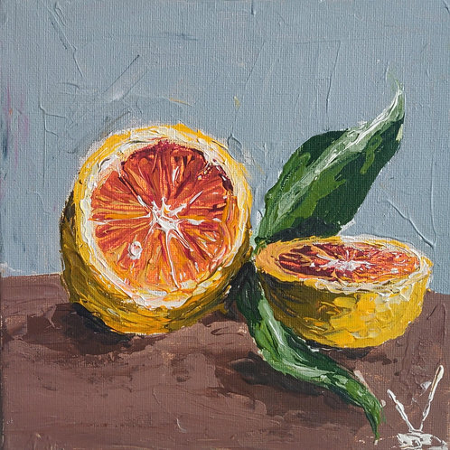 Original Painting 'Orange Still Life'.