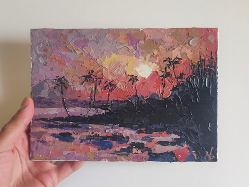 Original Painting 'Pink Sunset'